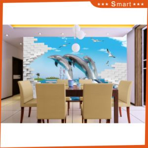 Wholesale Lovely Dolphin Oil Painting by Number on Canvas for Children Room pictures & photos