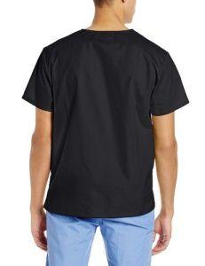 Unisex V-Neck Scrub Navy Blue Nurse Uniform (A614) pictures & photos