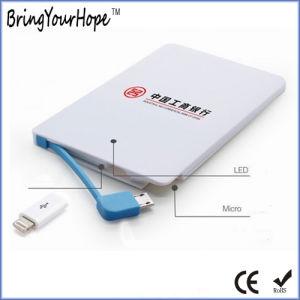 2500mAh Credit Card Slim Power Bank (XH-PB-045) pictures & photos
