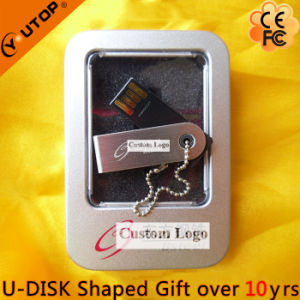 Laser/Silkscreen Logo Gift Swivel/Rotating Metal USB Stick (YT-3274) pictures & photos