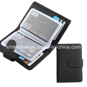 Leather Magnetic Business Card Use Bank ID Card Plastic Holder pictures & photos
