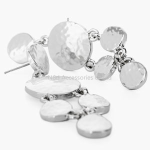 Fashion Woman Gift Silver Plated Round Ring Hoop Dangle Earrings Statement Stud pictures & photos