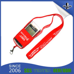 Red Mobile Phone Holder Lanyard with White Logo pictures & photos