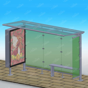 New Design Sprayed Painting Surface LED Strips Light Metal Bus Shelter pictures & photos