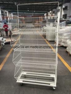 Stackable Metal Supermarket Display Cage with Castors 03 pictures & photos
