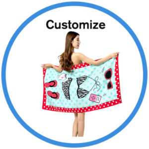 Beach Towel with Inflatable Pillow pictures & photos