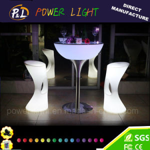 Bar Furniture Plastic RGB Illuminated LED Stool with Remote Controller pictures & photos