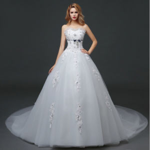 Cute Ball Gown Sweetheart Appliqued Court Train Wedding Dress pictures & photos