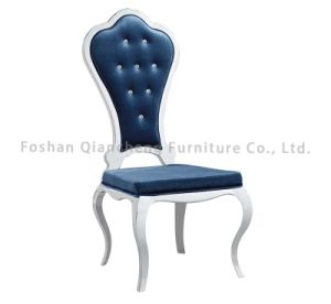 Factory Price Fabric Material Stainless Steel High Back Dining Chair pictures & photos