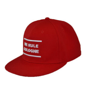 3D Embroidery Flat Brim Snapback Hat Custom Sport Cap for New Year Party pictures & photos