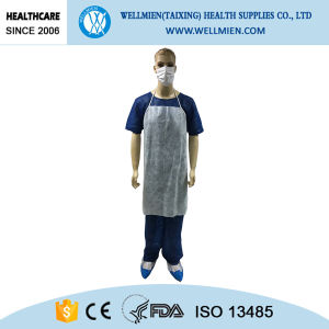 High Quality Non-Woven White Apron Medical Personal Use pictures & photos