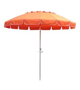 8′ Orange Tilt Beach Market Umbrella