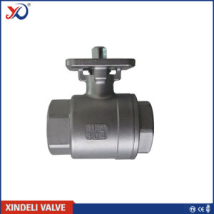 2PC Stainless Steel Threaded Ball Valve with Ce Certificate pictures & photos