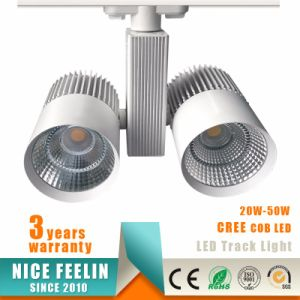 40W High Power CREE COB LED Track Light for Commercial Lighting pictures & photos