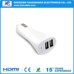 Double USB Port 1A/2.1A Car Charger for iPhone/iPad/Samsung Cellphone pictures & photos