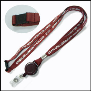 Retractable PVC ID/Name Card/Badge Holders Custom Printed Lanyards with Badge Reel pictures & photos