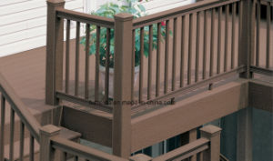 Waterproof Cheap Outdoor Wood Plastic Composite WPC Fence K-Rl-18 pictures & photos