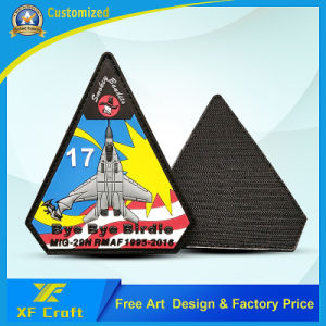 Custom PVC Rubber 3D Label Patch with Hot Hook & Loop on Back (XF-PT08) pictures & photos