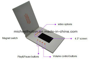 Customer Designed Promotion Gift 4.3′′ LCD Screen Video Brochure (VC-043) pictures & photos