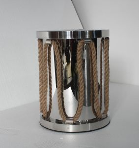 Small Stainless Steel with Hemp Rope Round Coffee Table pictures & photos
