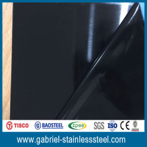 Titanium Coated Decorative Black Stainless Steel Sheet Coil 201 pictures & photos