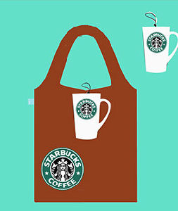 Foldable Shopper Bag, Promotion Bags, Coffee Cup Style, Reusable, Lightweight, Grocery Bags and Handy, Gifts, Promotion, Decoration & Accessories, Tote Bag pictures & photos