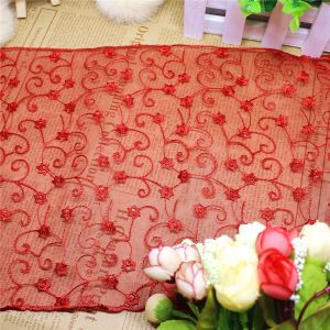 Factory Stock Wholesale 22cm Width Embroidery Nylon Net Lace Polyester Embroidery Trimming Fancy Chemical Lace for Garments Accessory & Home Textiles &Curtains pictures & photos
