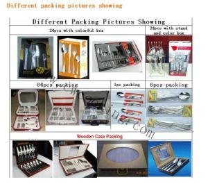 12PCS/16PCS/24PCS/72PCS/84PCS/86PCS Mirror Polished High Class Stainless Steel Cutlery Tableware (CW-CYD825) pictures & photos