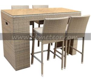 Outdoor Garden 4 Seater Rattan Bar Set and Stools Wicker Bar Set Furniture pictures & photos