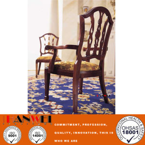 Wooden Furniture Classic Solid Wood Chair with Armrest pictures & photos