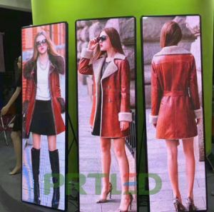 Ultra Slim P2.5 Full Color LED Poster Display Screen for Shopping Mall/Window pictures & photos