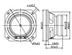 4ohm 2W 66mm 2.5 Inch Bluetooth Speaker Dxyd66W-45b-4A-F pictures & photos