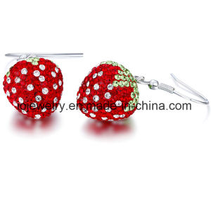 Factory Price Crystal Strawberry Earrings pictures & photos