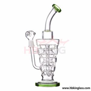 Hbking Warehouse New Style Percolation Smoking Glass Water Pipe pictures & photos