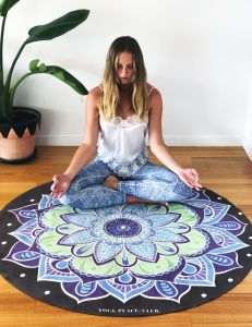 Luxury Eco Round Yoga Mat with Free Yoga Bag pictures & photos
