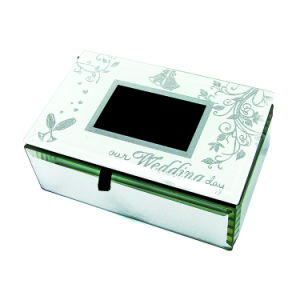China Wholesale Silver Mirror Jewelry Packaging Box for Wedding Gift pictures & photos