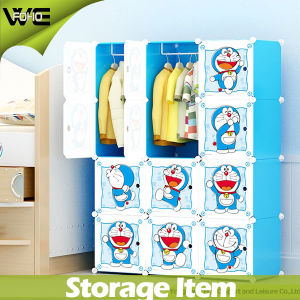 Folding Portable Clothing Armoire Furniture Plastic Wardrobe pictures & photos