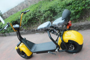 1000W 60V/30ah Harley Electric Scooter with Bluetooth F/R Suspension 2 Seats pictures & photos