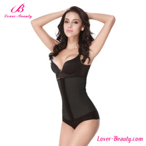 Comfortable Black Latex 4 Steel Boned Waist Trainer Corset