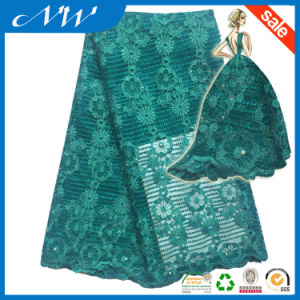 Wholesale High Quality Embroidered Tulle Fabric Lace pictures & photos
