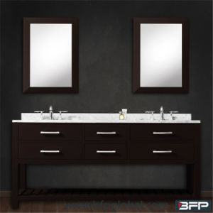 Dark Color European Style with Shelf Shower Room Vanity Bathroom Cabinet pictures & photos