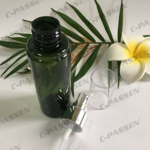 100ml 150ml Green Pet Bottle with Plastic Spray Pump for Cosmetics Packaging (PPC-PB-078) pictures & photos