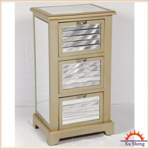 Window  Shutter  Antique  Mirror  Cabinet in Champagne  for  Living  Room pictures & photos
