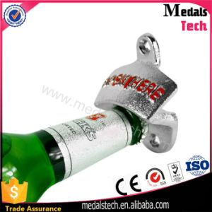 High Quanity Zinc Alloy 3D Logo Metal Wall Bottle Opener with Screws pictures & photos