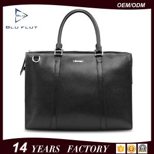 Factory Supply Fashion Designer Custom Logo Genuine Leather Men Handbags pictures & photos