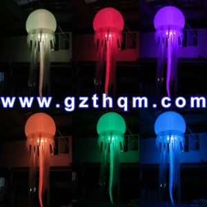 LED Lighting Inflatable Ground Balloon for Advertising/Inflatable Jellyfish Light Balloon for Decoration pictures & photos