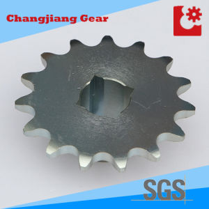 Industrial Transmission Standard Stock Zinc Chain Sprocket with Square Hole pictures & photos