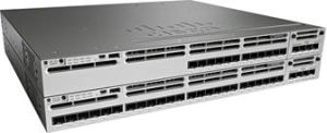 New Cisco 12 Port 10g Fiber Ethernet Network Switch (WS-C3850-12XS-S) pictures & photos