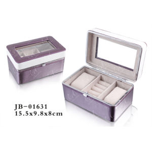 Luxury Chrome Metal Frame Display PU Leather Packing Watch Box/Case with Window 3xslots pictures & photos