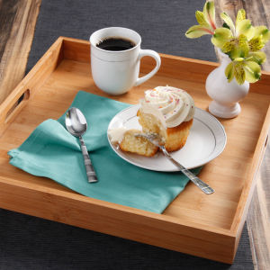 Walmart Bamboo Tea Food Coffee Furit Serving Tray Organizer pictures & photos